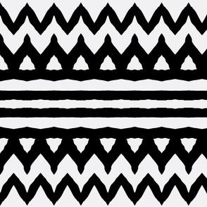 Black zebra Stripes chevron