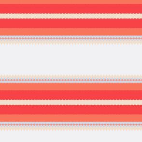 Orange and Cream Stripe Delight