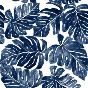 Jungle Monstera-Leaves_blue