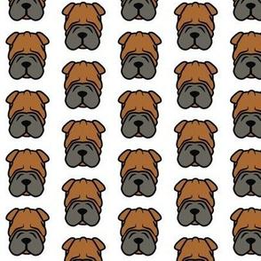 Wrinkle face dog Shar Pei fabric