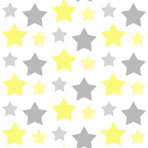 Stars Yellow Gray Gray Baby Boy Celestial Nursery
