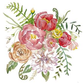 Vintage Boho Flower Bouquet