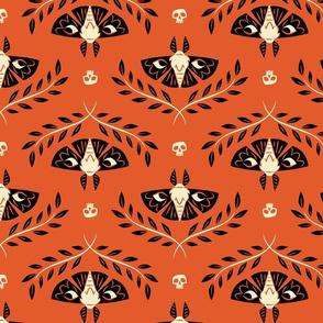 Spooky Moths (Orange)