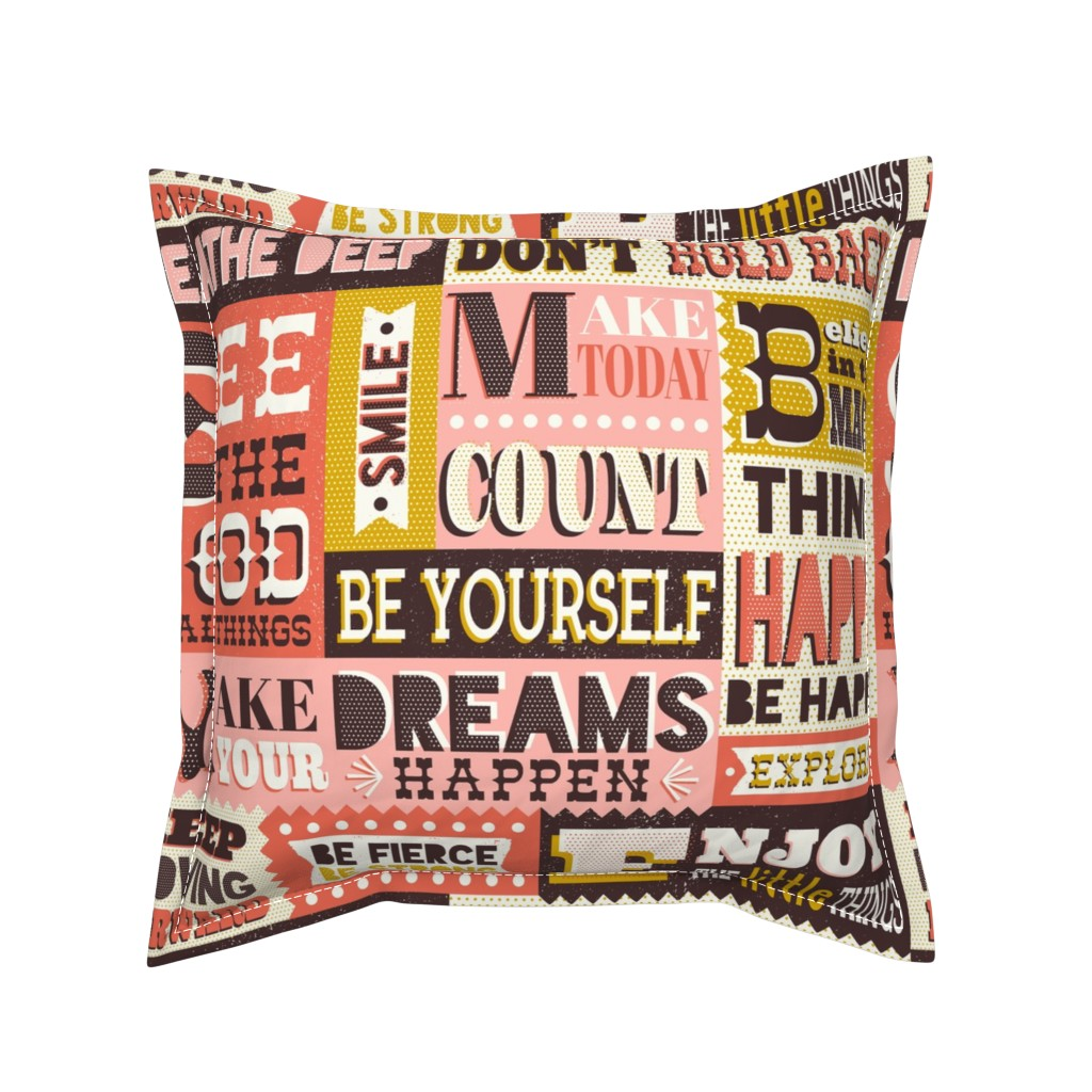 Serama Throw Pillow featuring You Inspire Me - Inspirational Quotes Large Scale  by heatherdutton