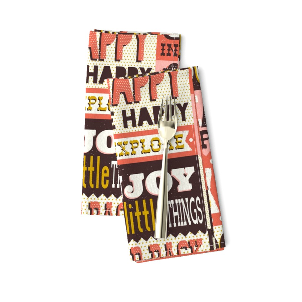 Amarela Dinner Napkins featuring You Inspire Me - Inspirational Quotes Large Scale  by heatherdutton