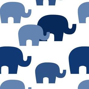 Navy Blue Ombre Elephant Baby Boy Nursery
