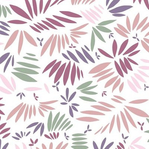 Tossed leaves dusty lilac by Jac Slade