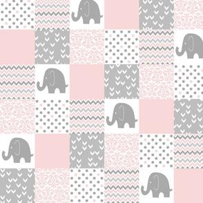 Elephant PW pink grey