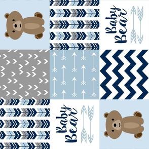 Baby Bear Patchwork Blue