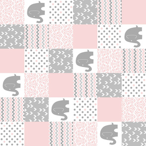 Pale Pink Elephant Patchwork