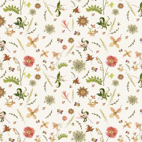 Pink Meadow Garden ivory sm