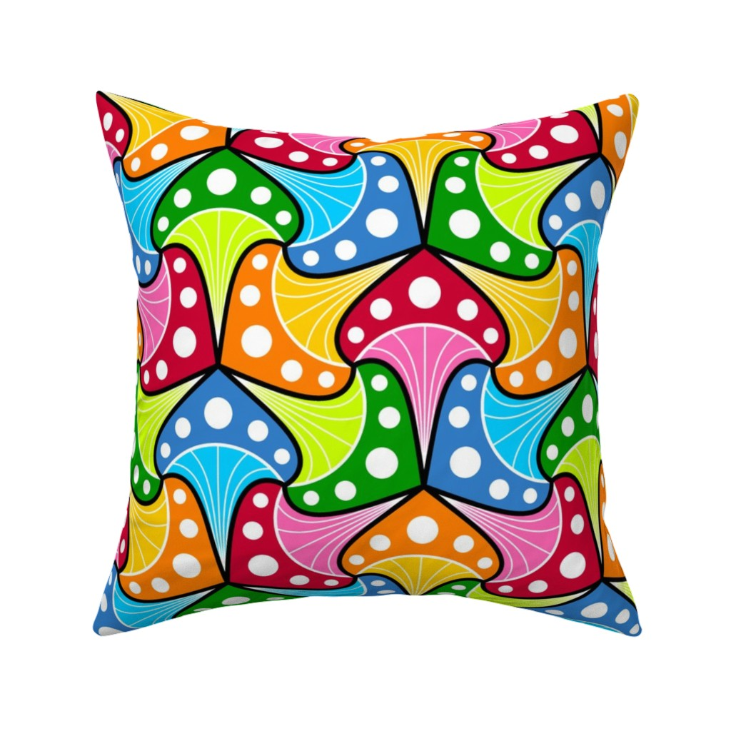 Catalan Throw Pillow featuring 08579716 © fungi 3m : multi by sef