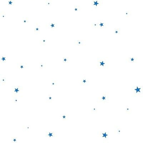 woollypetals starry eyed white with royal blue stars