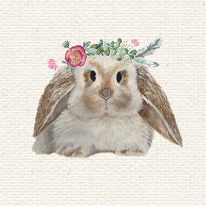 Wild and Bloom Bunny on Burlap