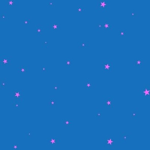 woollypetals starry eyed royal blue and pink
