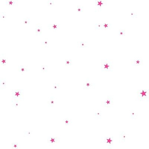 woollypetals starry eyed white with bubblegum pink stars