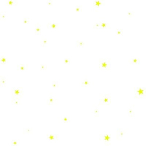 woollypetals starry eyed white with light bulb yellow stars