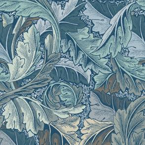 William Morris ~ Acanthus  ~ Kentucky Twilight ~ Large