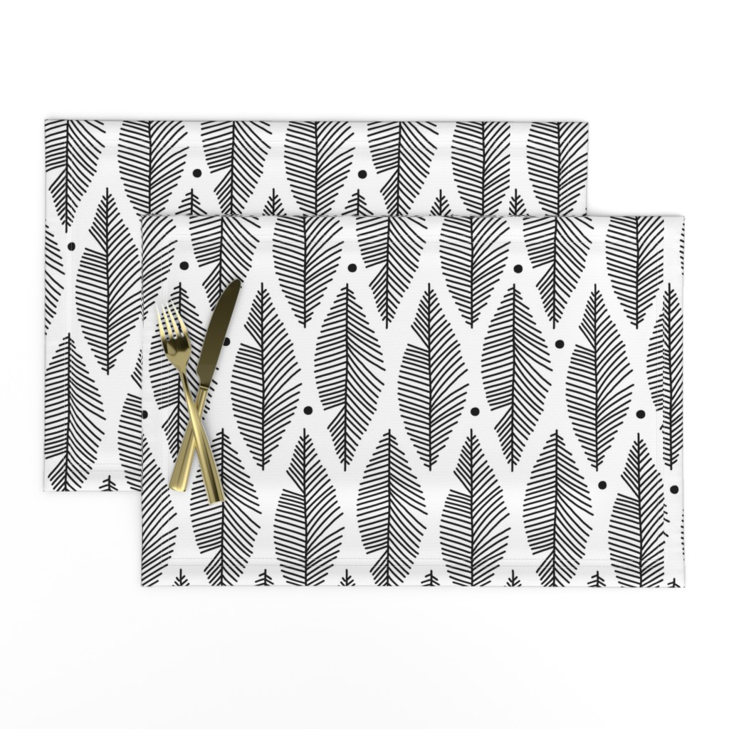 Lamona Cloth Placemats featuring Pin Feather by renmeleon