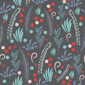 Winter flower pattern