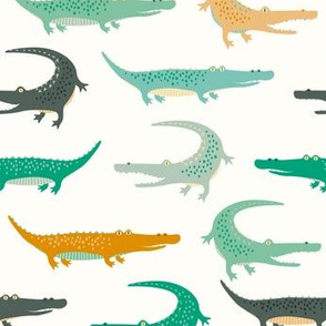 crocodiles on cream