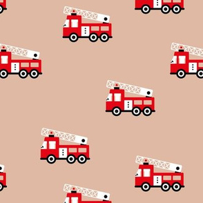 Fire engine cool fire trucks for fire fighter kids beige natural red