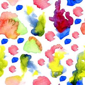 Watercolor blobs