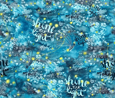 Shine your light affirmation watercolor fireflies
