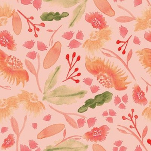 19-4AA Home Decor Peach Coral Floral