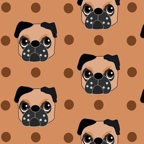 Fudge the Fawn Pug