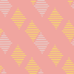 Stripe geometric in pink