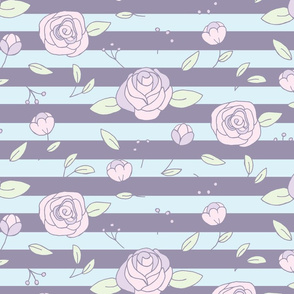 Roses on stripes