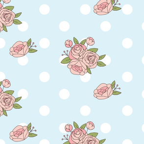 Roses on polkadot