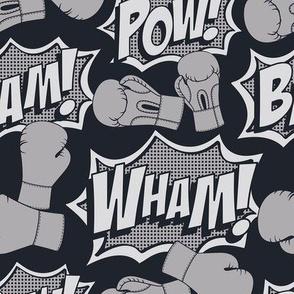 Kickboxing Pop Art Full Size (Gray)