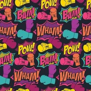 Kickboxing Pop Art Half Size (Color)