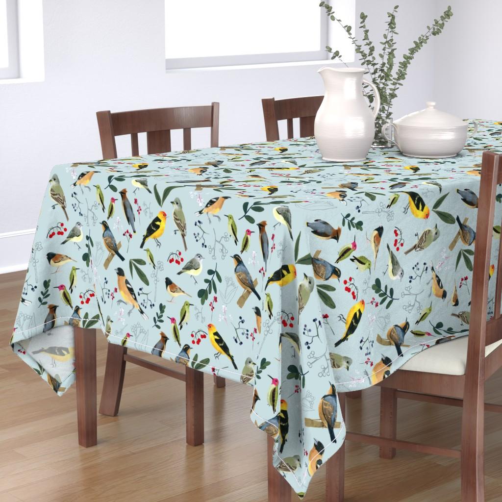 Bantam Rectangular Tablecloth featuring West Coast Spring by tarakatedesigns