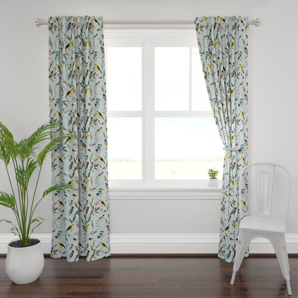Plymouth Curtain Panel featuring West Coast Spring by tarakatedesigns