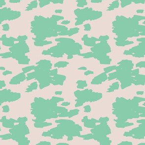 Minimal love animal skin cow spots camouflage army fur spring summer mint SMALL