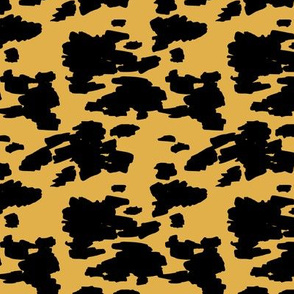 Minimal love animal skin cow spots camouflage army fur summer yellow SMALL