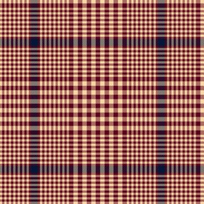 """Prince of Wales check, 5"""" maroon-navy-champagne"""