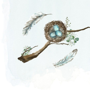 BLue nest and eggs 9000