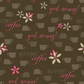 coffee - brown pink