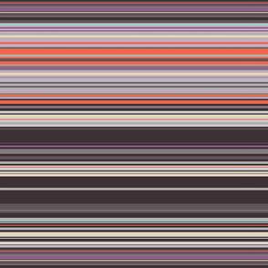 Colorful stripes | 03 – brown, orange purple