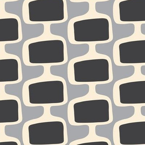 Mid Century Modular  Tv Screens ~ Shades of Grey