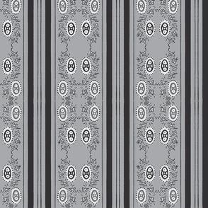all grey printed stripey