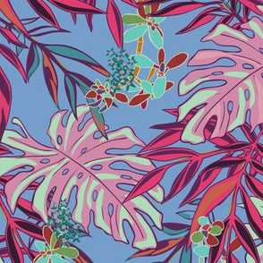 Tropical Garden - Periwinkle