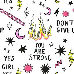 Girl Power // Fluro // 80s