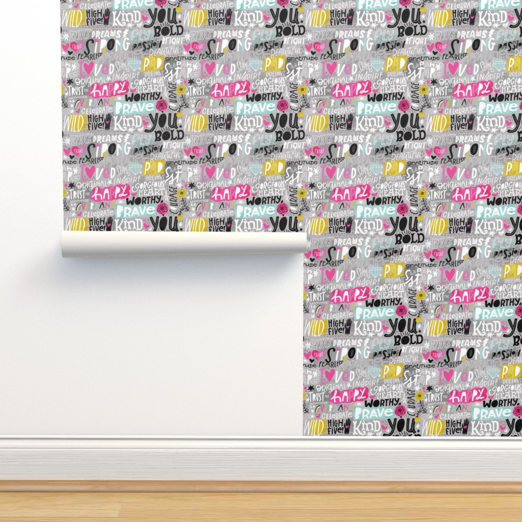 Isobar Durable Wallpaper featuring Notes to Self  by cynthiafrenette