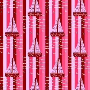Ocean Cliffs - Sailing Pink