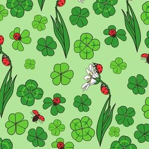Lady Bugs // Lucky Clover // Green Garden
